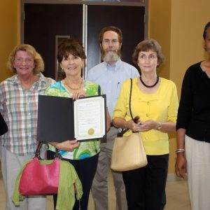 Advisory Council receives City Council Proclamation on Sept. 7, 2010