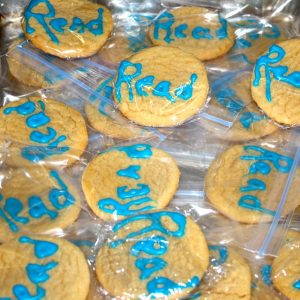 Reading cookies, baked for our visitors at Branigan Library